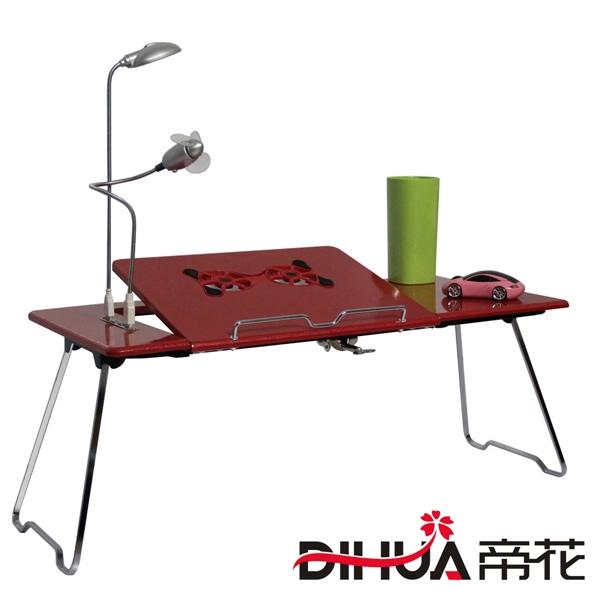 Pre-order ชุดโต๊ะคอมพิวเตอร์ โต๊ะแล็ปท้อปสีแดง แบบมีพัดลมระบายอากาศ มีช่อง USB และโคมไฟ LED ส่องสว่าง