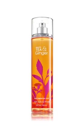 **พร้อมส่ง**Bath & Body Works White Tea & Ginger Fine Fragrance Mist 236 ml. สเปร์ยน้ำหอมที่ให้กลิ่นติดกายตลอดวัน กลิ่นหอมใบชาผสมกลิ่นขิงอ่อนๆ ไม่ฉุนอย่างที่คิดนะ เพราะกลิ่นจะมีกลิ่นมัคส์มาช่วยให้กลิ่นนุ่มนวลขึ้น กลายเป็นกลิ่นที่หอมมากๆเลยคะ ,