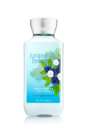 **พร้อมส่ง**Bath & Body Works Juniper Breeze Shea & Vitamin E Body Lotion 236 ml. โลชั่นบำรุงผิวสุดพิเศษ จากกลิ่นดั่งเดิมรุ่นคลาสสิคที่ได้รับความนิยม กลิ่นไม้สนหอมสดชื่นกระปรี้กระเปร่าเหมือนบรรยากาศยามเช้าค่ะ ,
