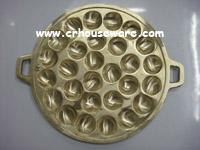 กระทะขนมครกทองเหลือง 016-KM-B28 Brass Khanom Krok pan. 016-KM-B28อุปกรณ์ทำขนม, พิมพ์ขนมครกทองเหลือง ,เตาขนมครก,ที่ทำขนมครก