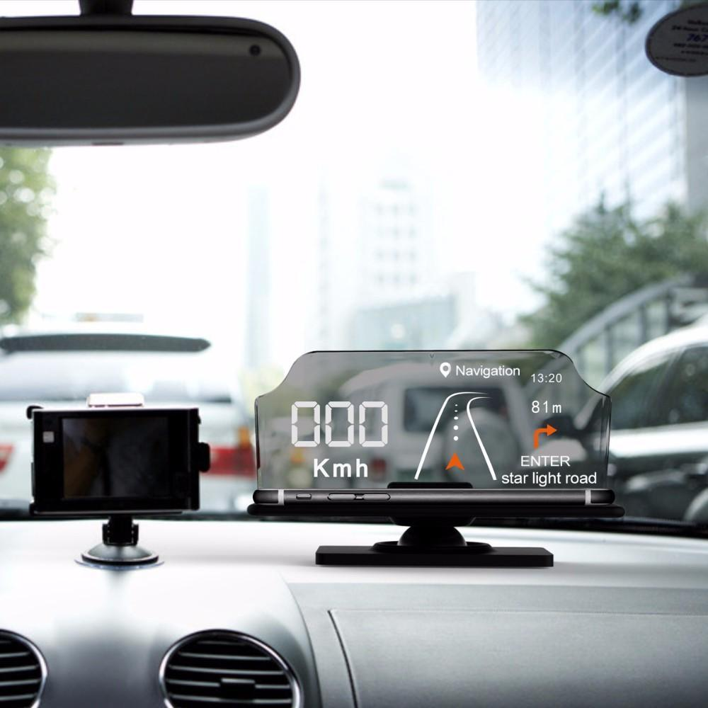 เครื่องแสดงข้อมูลการเดินทาง Smartphone Heads Up Display