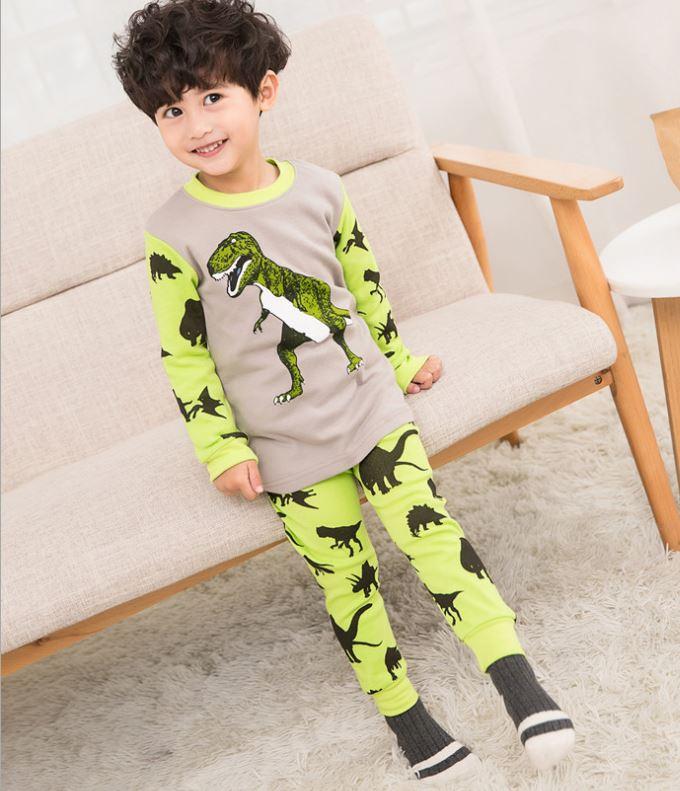ชุดนอนเด็ก ไดโนเสาร์ สีเหลือง