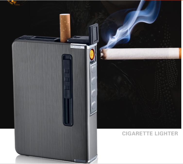 กล่องใส่บุหรี่พร้อมไฟแช็คไฟฟ้า