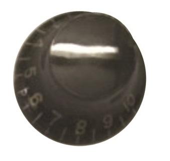 วอลุ่มกีต้าร์ไฟฟ้า สีดำตัวหนังสือขาว LP Bell Knob Style LPB-04