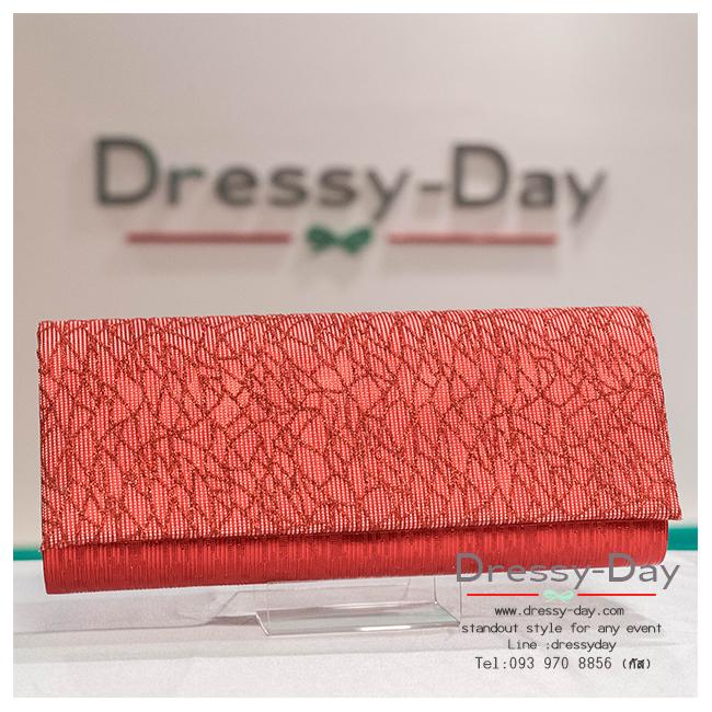กระเป๋าออกงาน TE027: กระเป๋าออกงานพร้อมส่ง สีแดง โรยกากเพชรสุดหรู ราคาถูกกว่าห้าง ถือออกงาน หรือ สะพายออกงาน สวย หรู ดูดีมากค่ะ