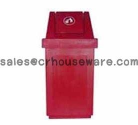 ขนาดถังขยะฝาสามเหลี่ยมแบบแกว่ง 001-TC60DL Trash polyethylene lid swing,lid triangular. 60 liter. 001-TC60DL
