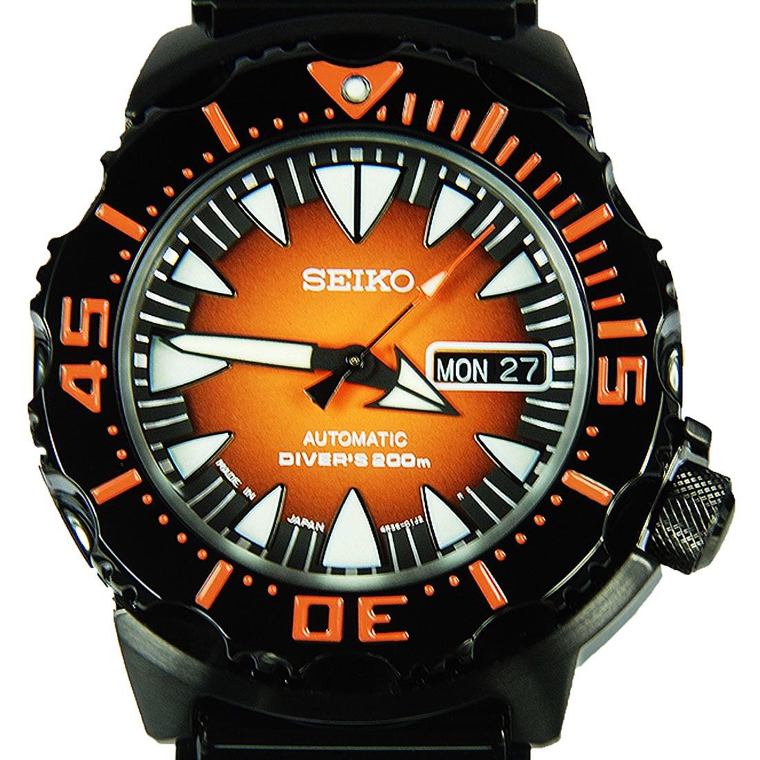 นาฬิกา Seiko Monster Black Orange Fang SRP311K1
