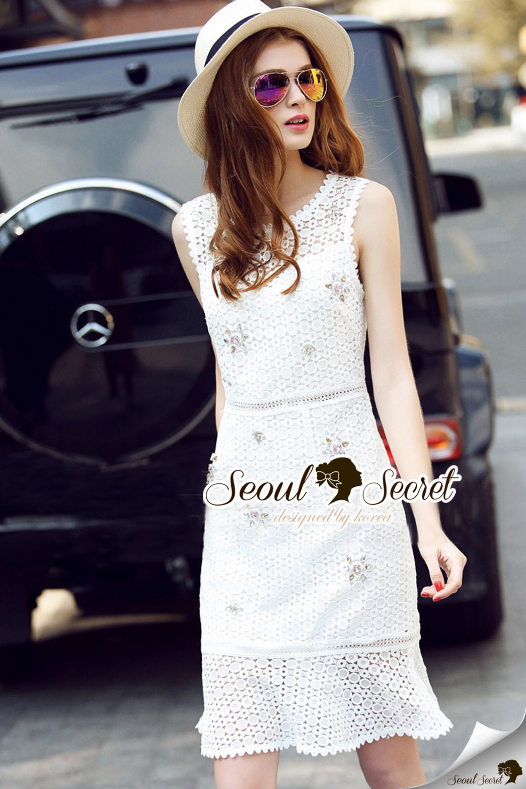 Seoul Secret Say's... Diamond Fairy Lace Dress