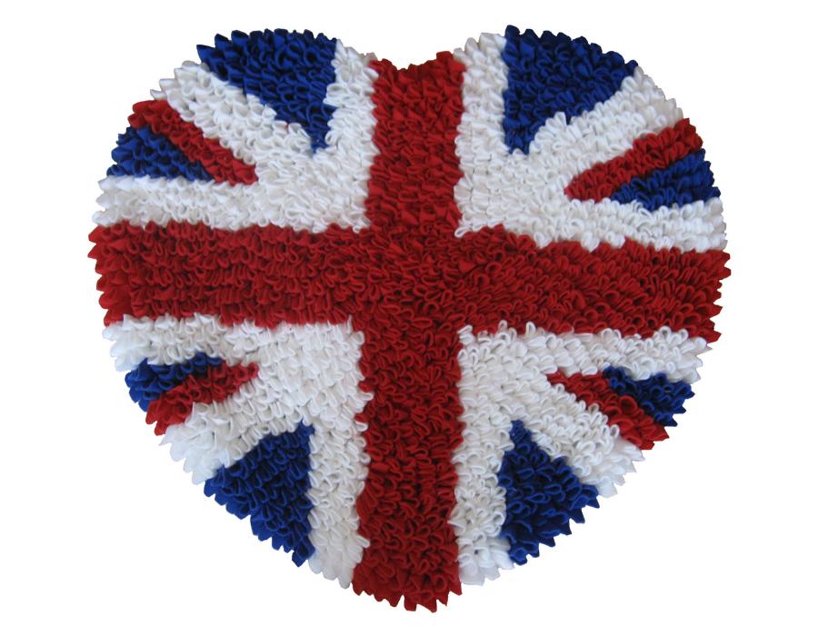 พรมแฟนซี ลายหัวใจธงอังกฤษ