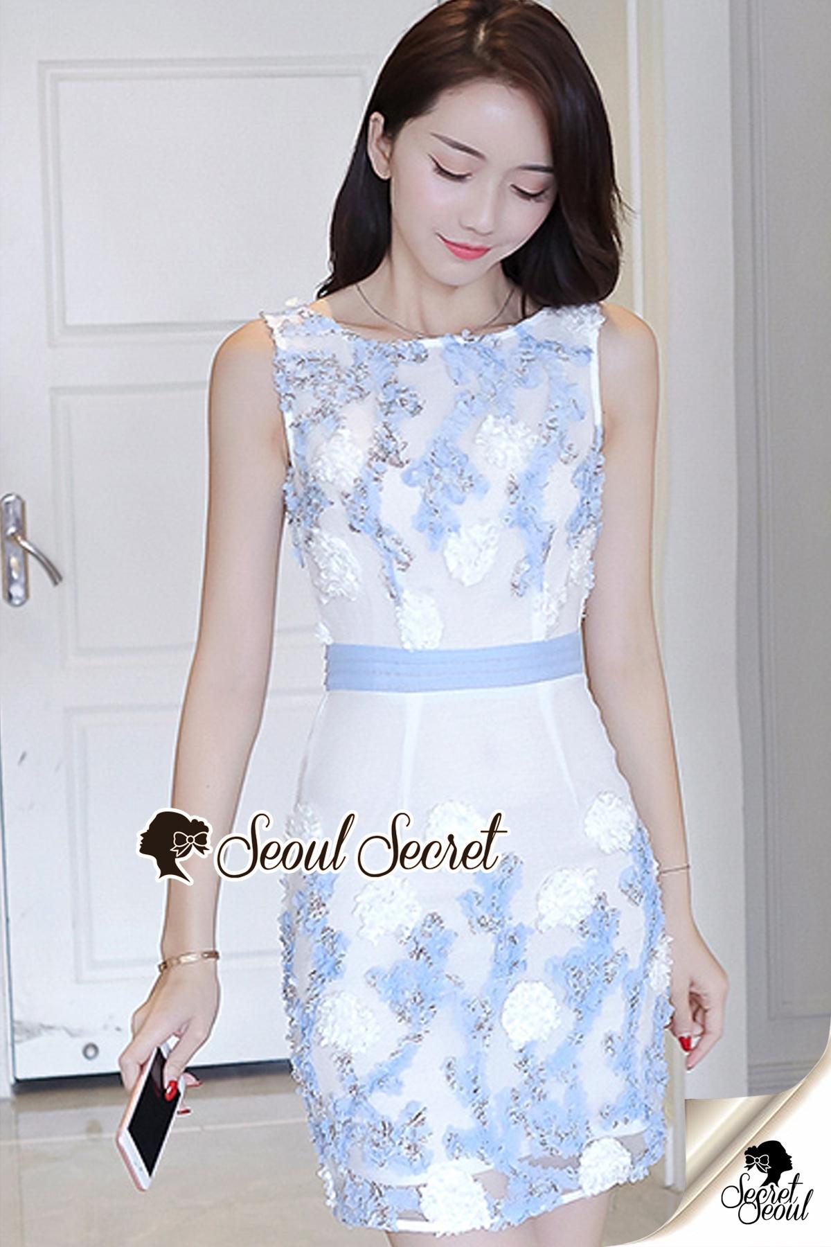 Seoul Secret Say's...Sweet Lace Bule Suquin Dress