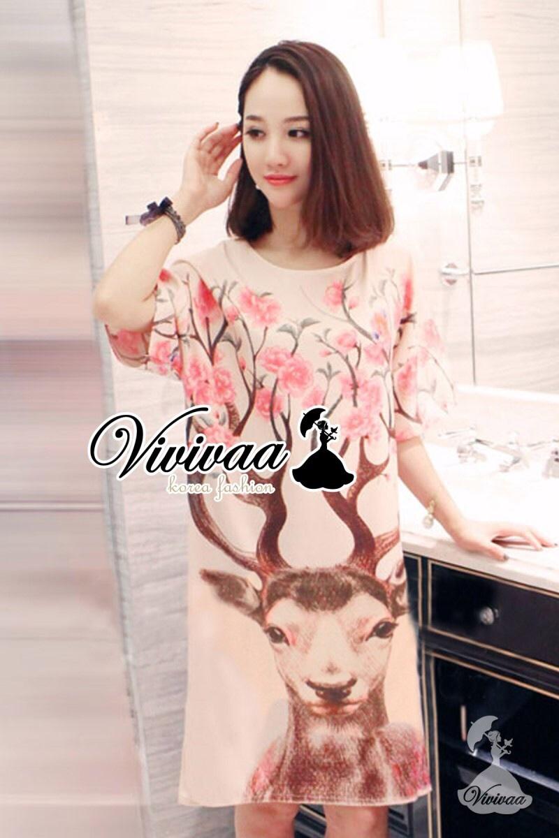 "Vivivaa recommend ""Little deer Lady pink dress"""