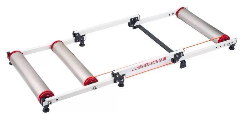 Polifly เทรนเนอร์ลูกกลิ้งจักรยาน ลูกกลิ้งปั่นจักรยาน Roller 3 ลูกกลิ้งรางอลูมิเนียม คุณภาพสูง เพื่อความเป็นมืออาชีพ