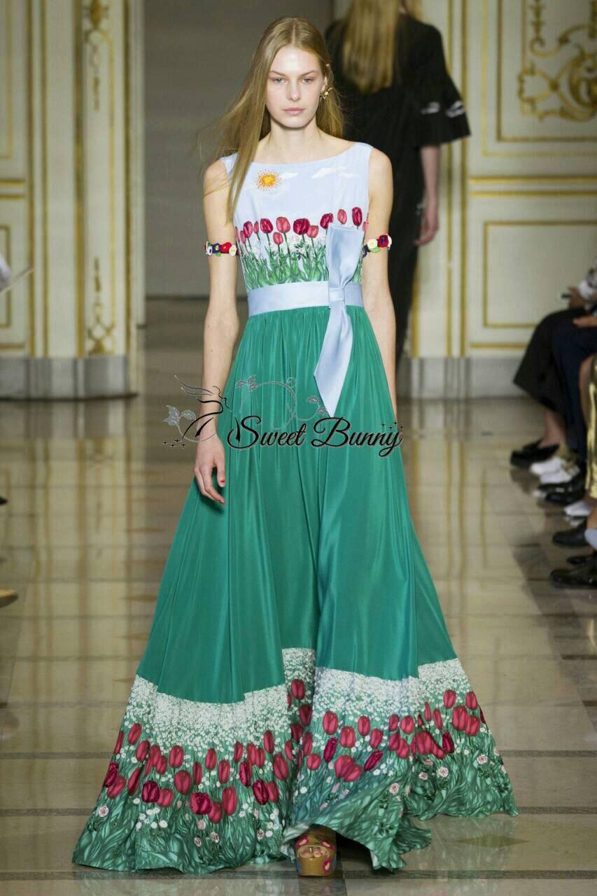Sweet Bunny Present... Valentino tulip print maxi dress