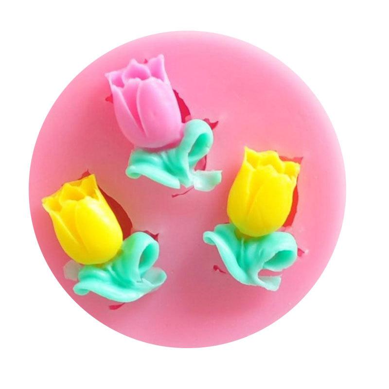 พิมพ์ฟองดอง 3D ดอกทิวลิปจิ๋ว