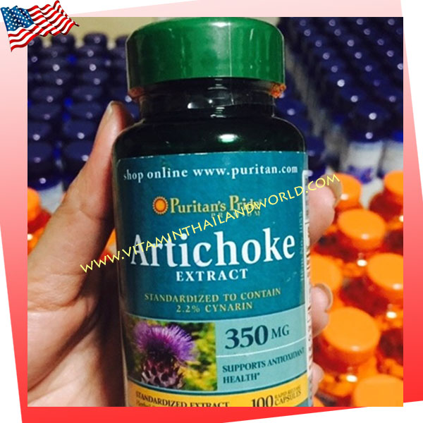 Artichoke Standardized Extract 350mg./100 Capsules(Puritan 's Pride) บำรุงตับ