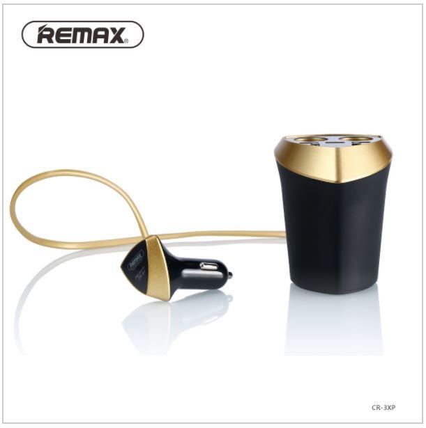 ตัวเพิ่มช่องจุดบุหรี่ 2 ช่อง + 3 Port USB REMAX CR-3XP
