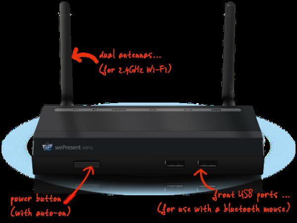 เครื่องรับ-ส่งภาพและเสียงไร้สาย 2.4G Wepresent รุ่น WIPG-1000