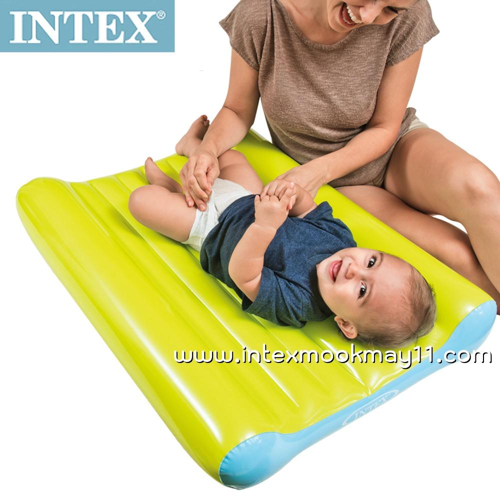 Intex Baby Change Mat Set เบาะที่นอนสำหรับเปลี่ยนเสื้อผ้าสำหรับเด็กเล็ก สีสวยสดใส