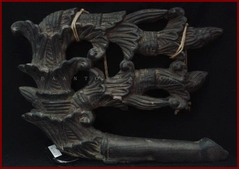 ไม้แกะสลักประดับหัวเกวียน2 ศิลปะพม่า สูง 32.5 cm.