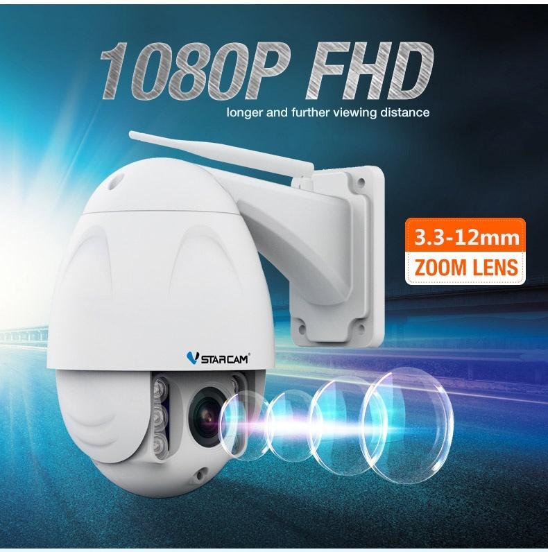 VStarcam กล้องวงจรปิด หมุนได้ IPCAM 1080P 34S