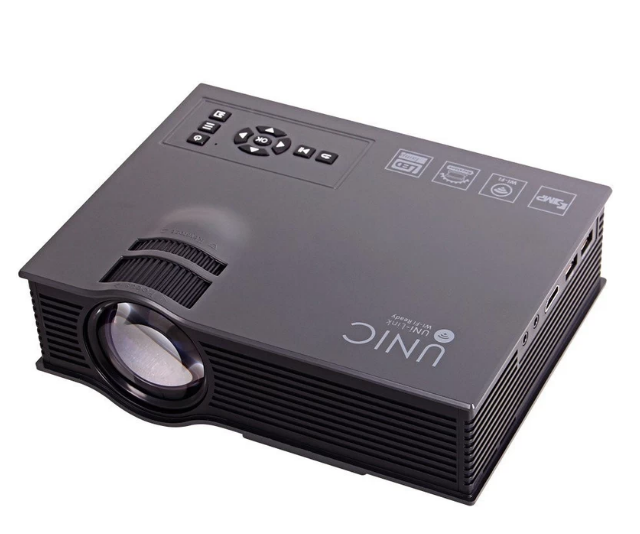 UNIC UC46 1200Lum 1080P HD 800 * 480 wifi Projector (Black)