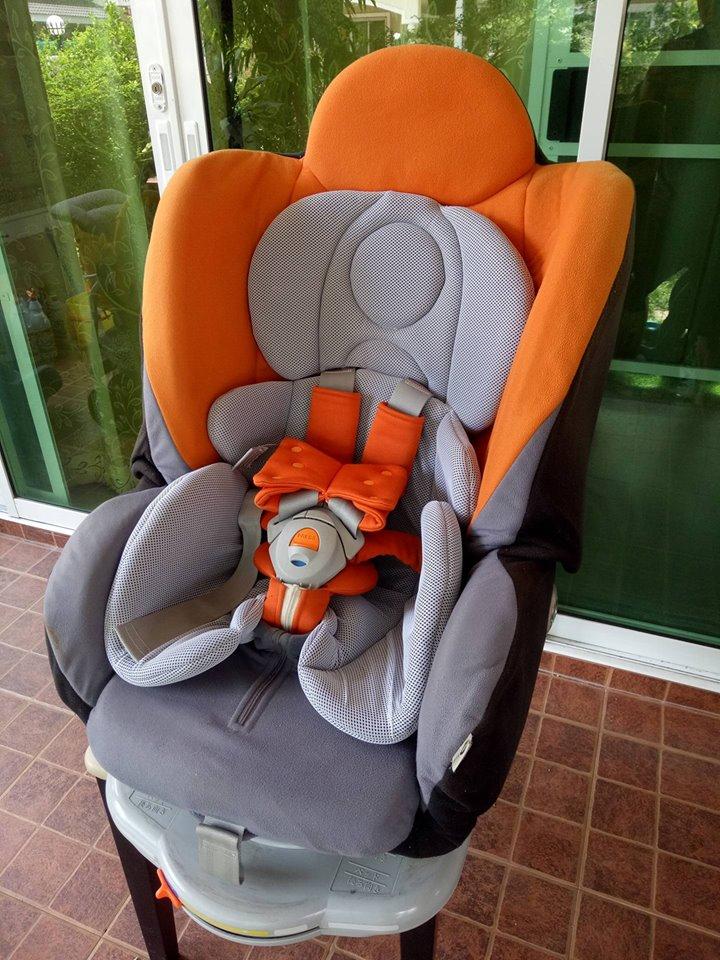 คาร์ซีท Aprica รุ่น Grand Bed สีส้ม-เทา รหัสสินค้า CS0035