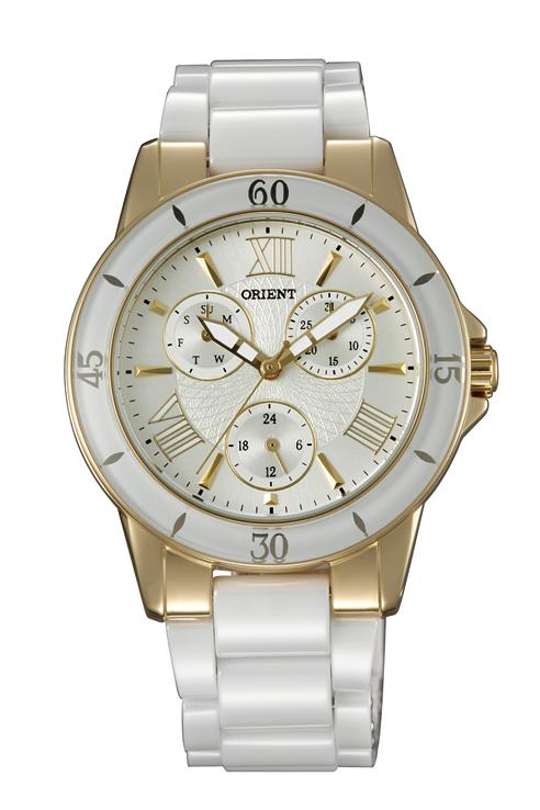 นาฬิกาผู้หญิง Orient รุ่น FUT0F003S0, Ceramic Quartz