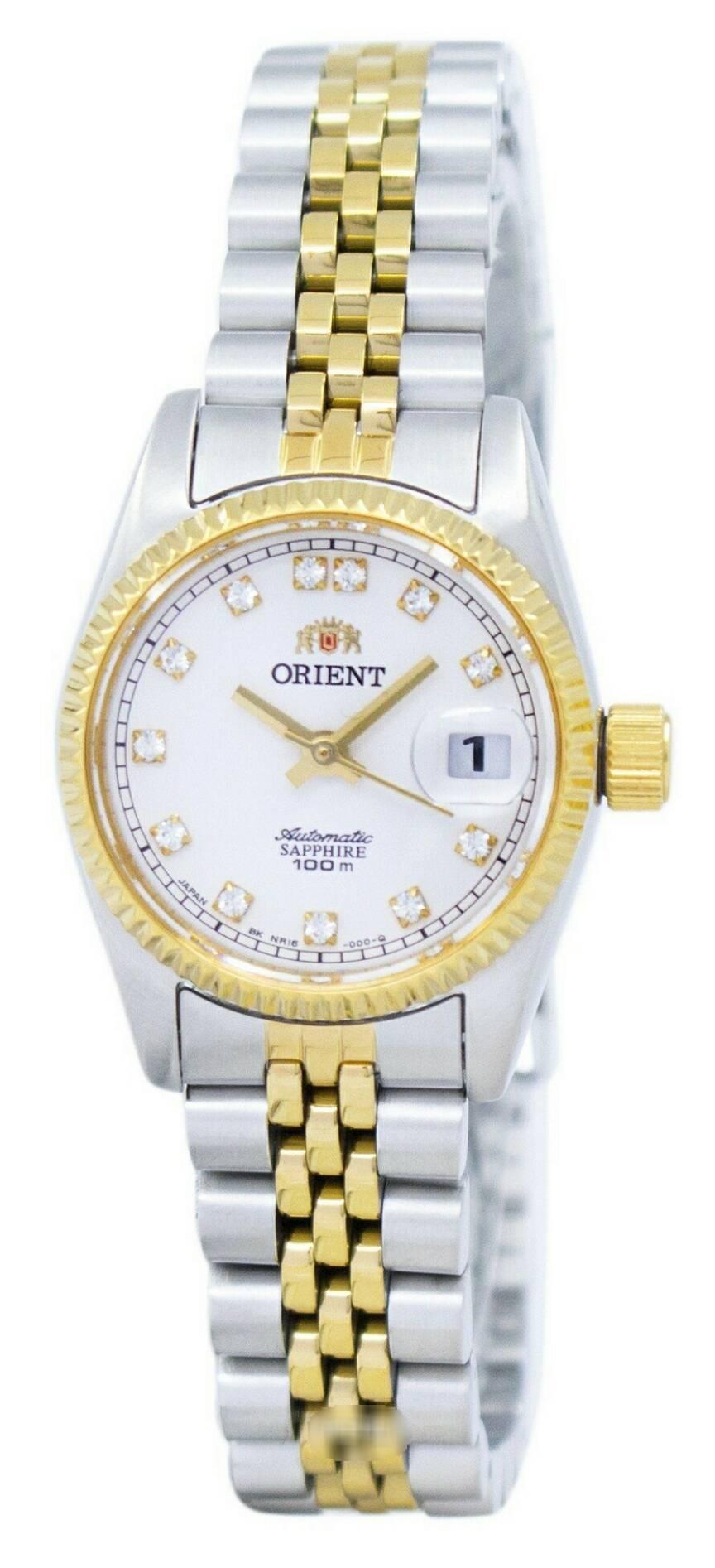 นาฬิกาผู้หญิง Orient รุ่น SNR16002W, Oyster Automatic Diamond Accent Women's Watch