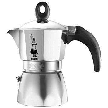 Bialetti หม้อต้ม กาแฟสด รุ่น Dama ขนาด 2 cup (สีเงิน)