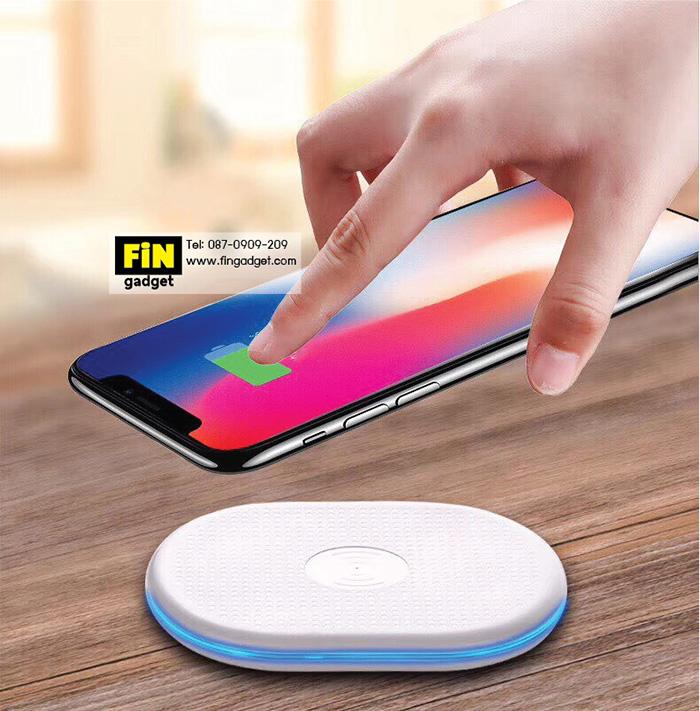 Qi Wireless Charger แถมฟรี แผ่นรับสัญญาณ