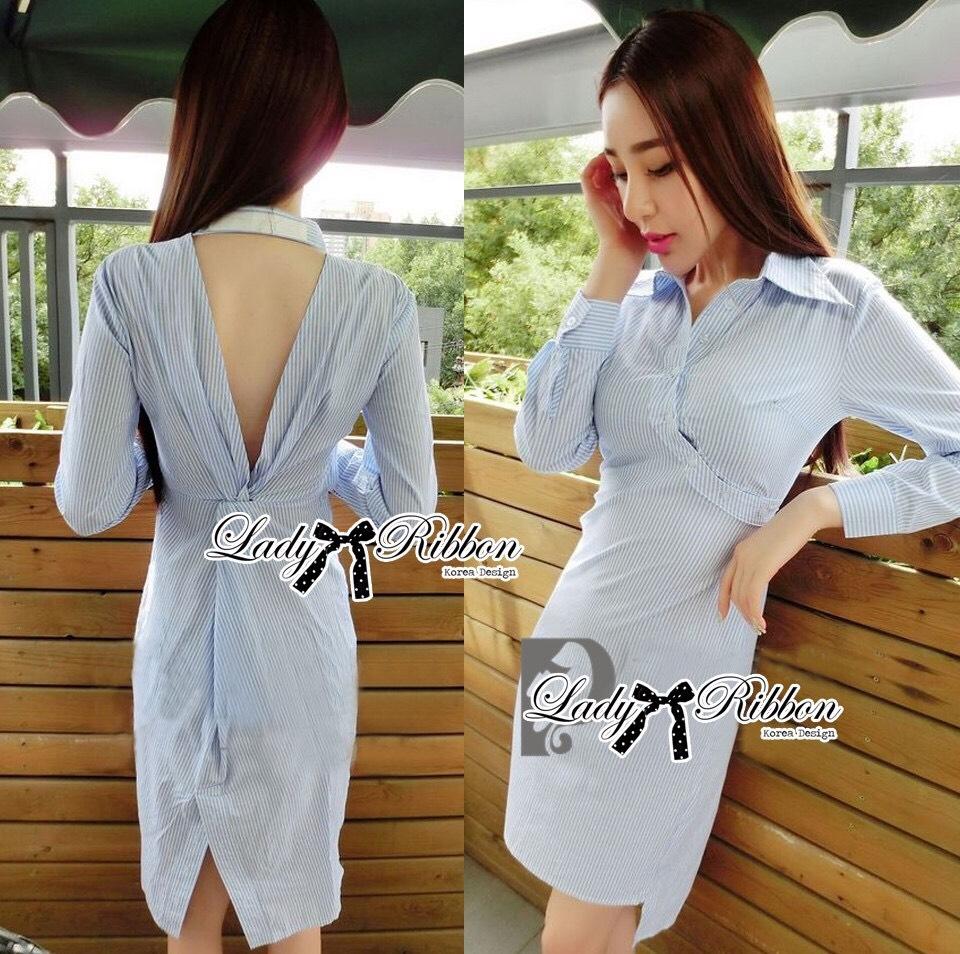 &#x1F380 Lady Ribbon's Made &#x1F380 Lady Lilly Chinoise Chic Backless Shirt Dress