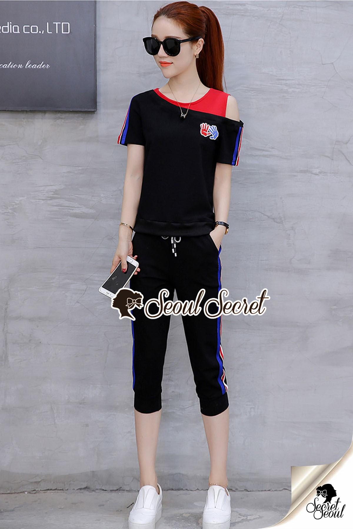 Seoul Secret Say's... Yeah Chic Sporty Stripe Rim Stick Set