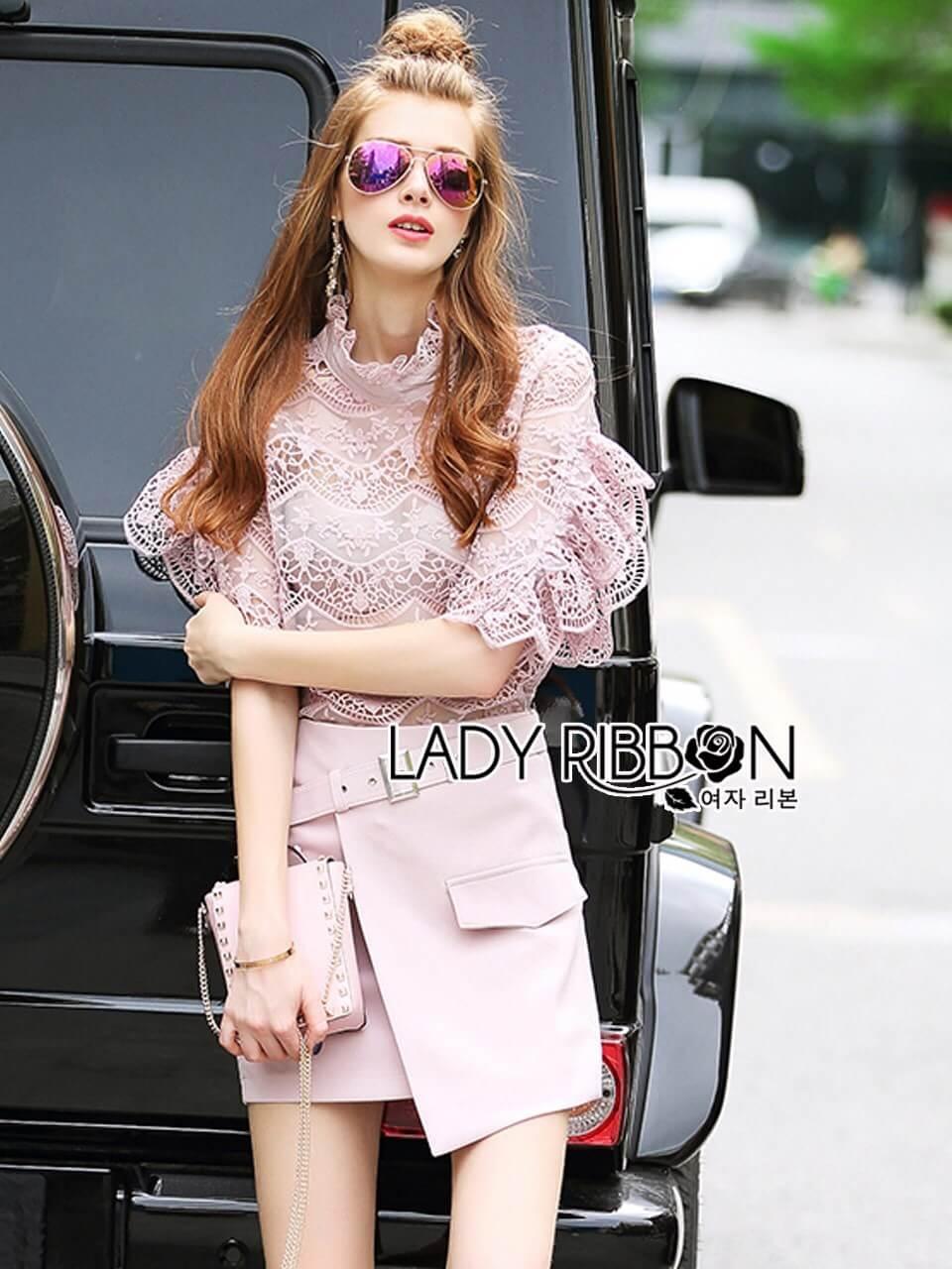 &#x1F380 Lady Ribbon's Made &#x1F380 Lady Christina Modern Vintage Lace Blouse and Hot skirt Set