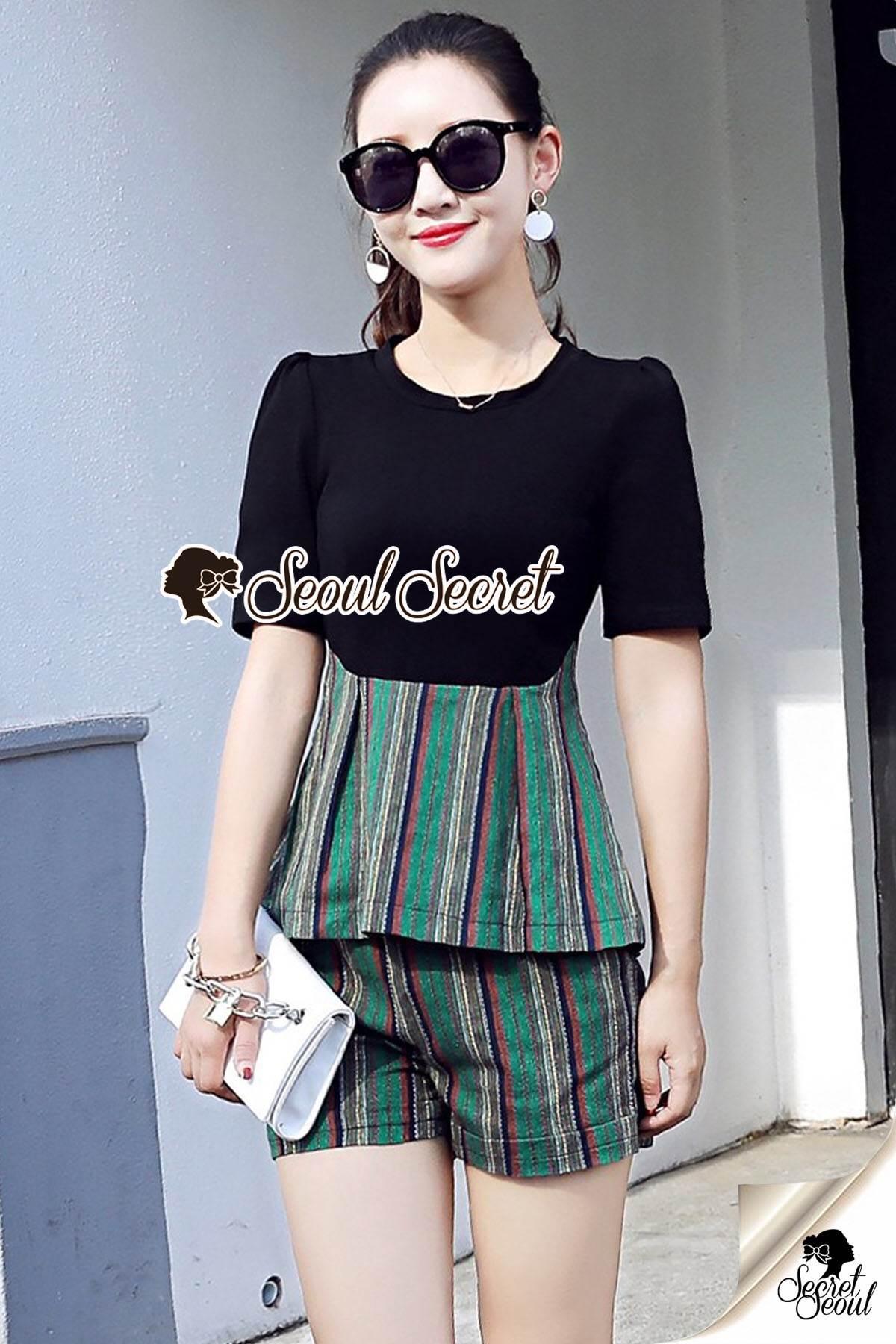 Seoul Secret Say's... Chic Line Swiiffy Pleat Tail Set