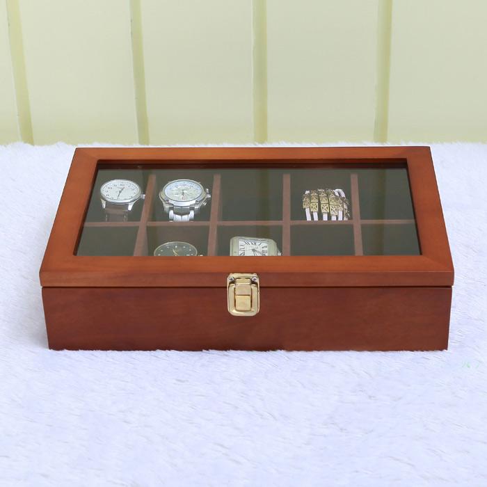 กล่องไม้เก็บนาฬิกา 10 เรือน สีน้ำตาล