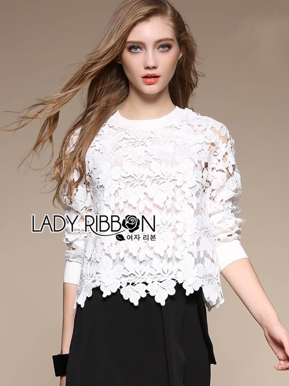 &#x1F380 Lady Ribbon's Made &#x1F380 Lady Ella Sweet & Sporty Lace Jumper