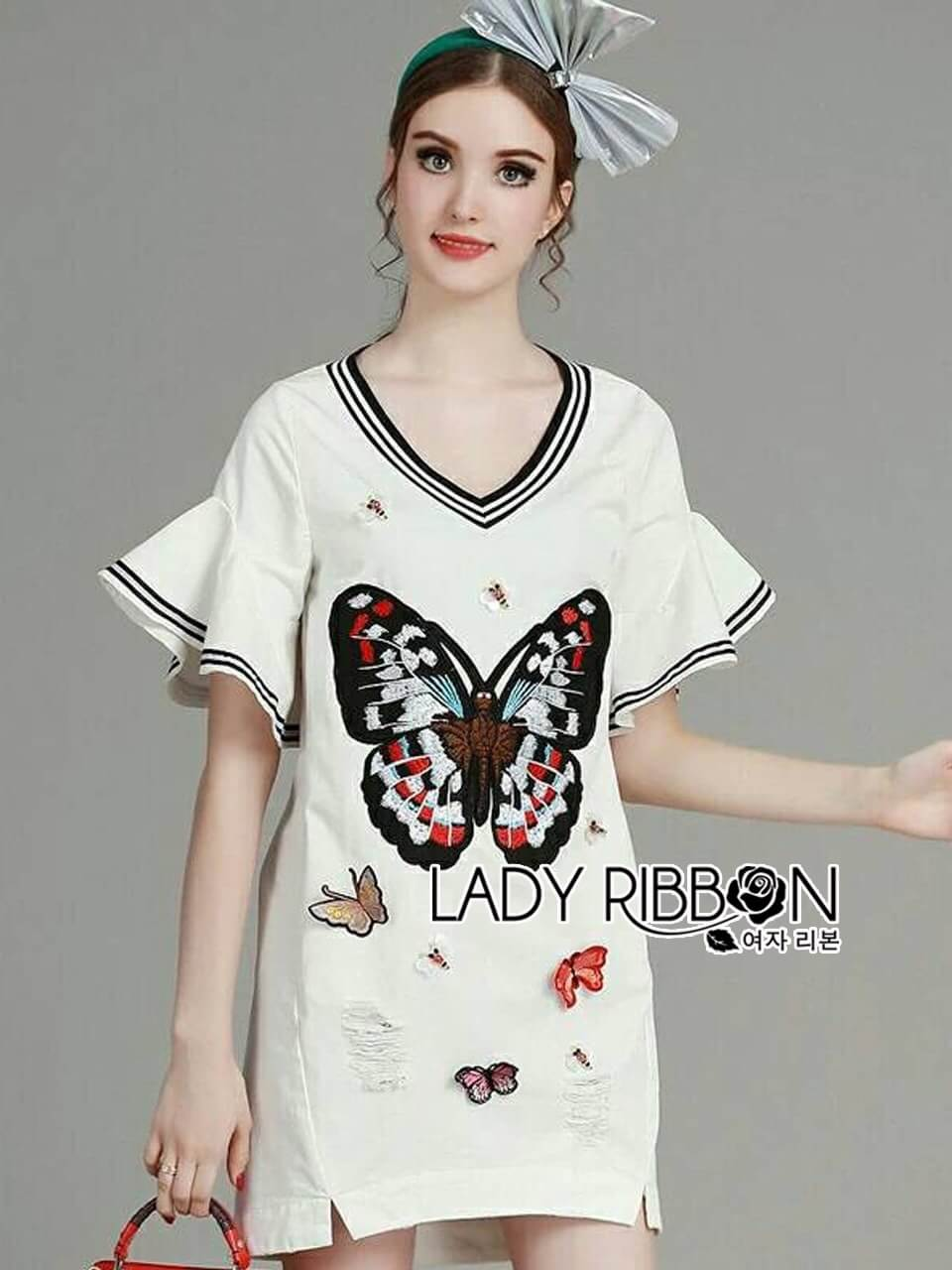 &#x1F380 Lady Ribbon's Made &#x1F380 Lady Isabella Butterfly Embroidered Dress