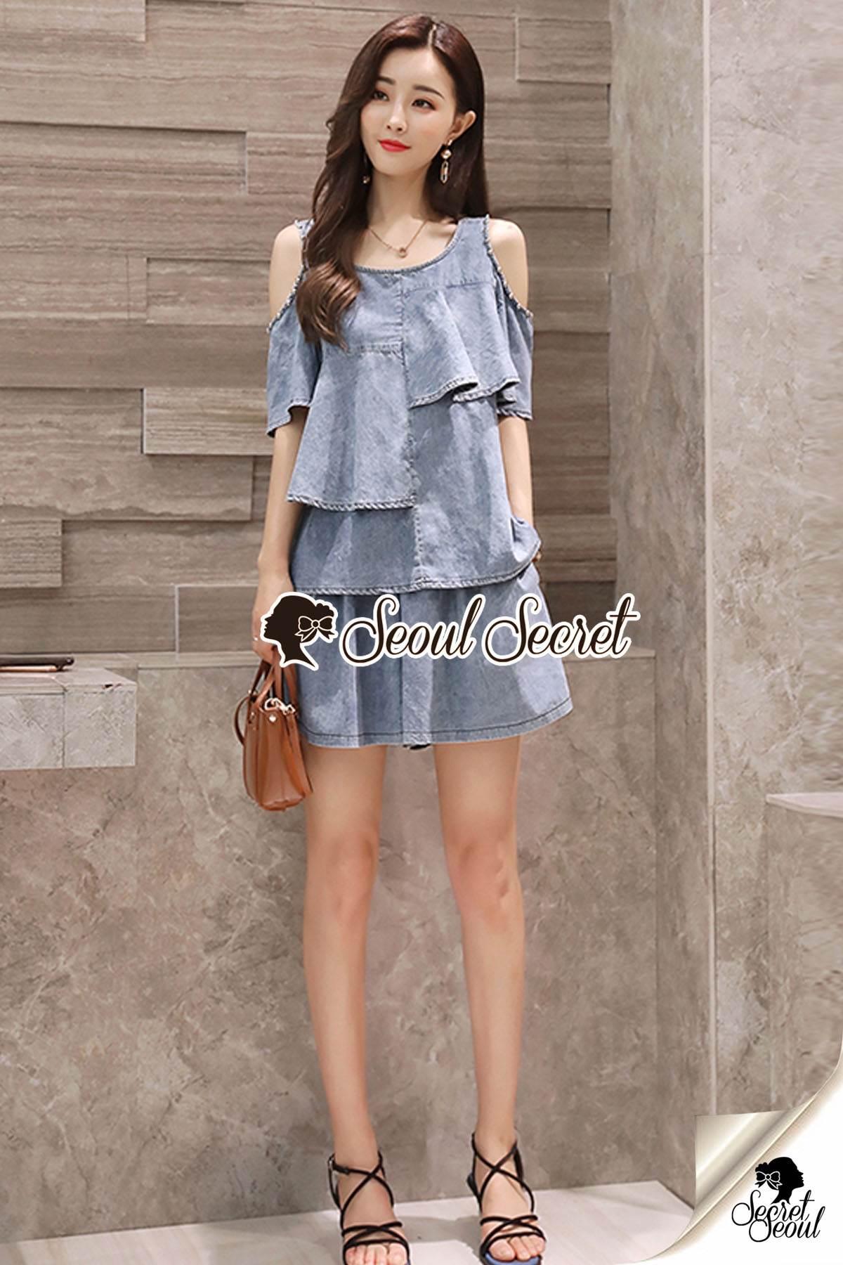 Seoul Secret Say's...Chic Blue Cotty Set