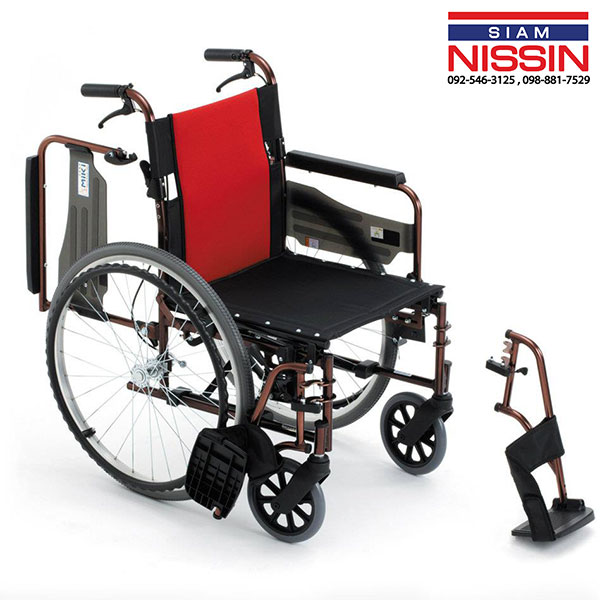 รถเข็นผู้ป่วย รถเข็นผู้สูงอายุ วีลเเชร์ MIKI รุ่น MCVWSW-49JL