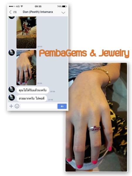 แหวนทับทิมพม่า แหวนพลอยแท้