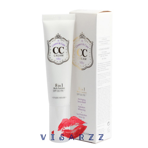 (#01 Silky) Etude House Correct & Care CC Cream SPF30 / PA++ 35 g # 01 Silky เนื้อบางเบา ดูเป็นธรรมชาติกว่า บีบีครีม กำลังได้รับความนิยมในเกาหลีอย่างมาก