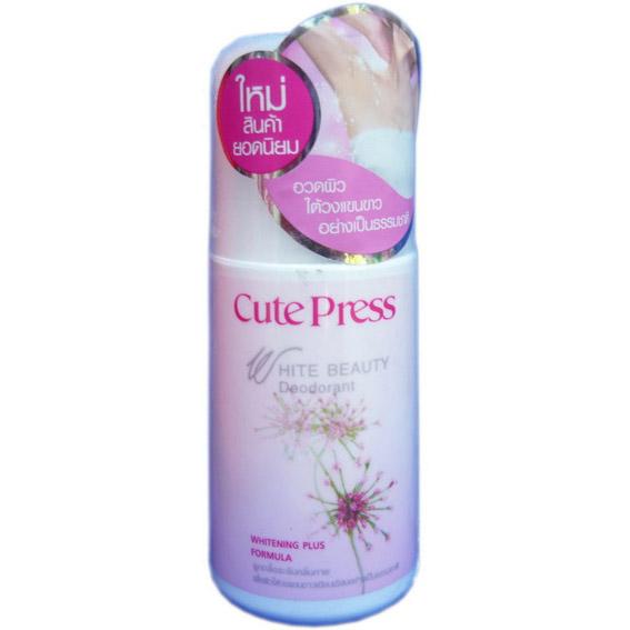 คิวท์เพรส ไวท์ บิวตี้ ดีโอโดเร็นท์ ไวท์เทนนิ่ง พลัส Cute Press White Beauty Deodorant Whitening Plus Formula