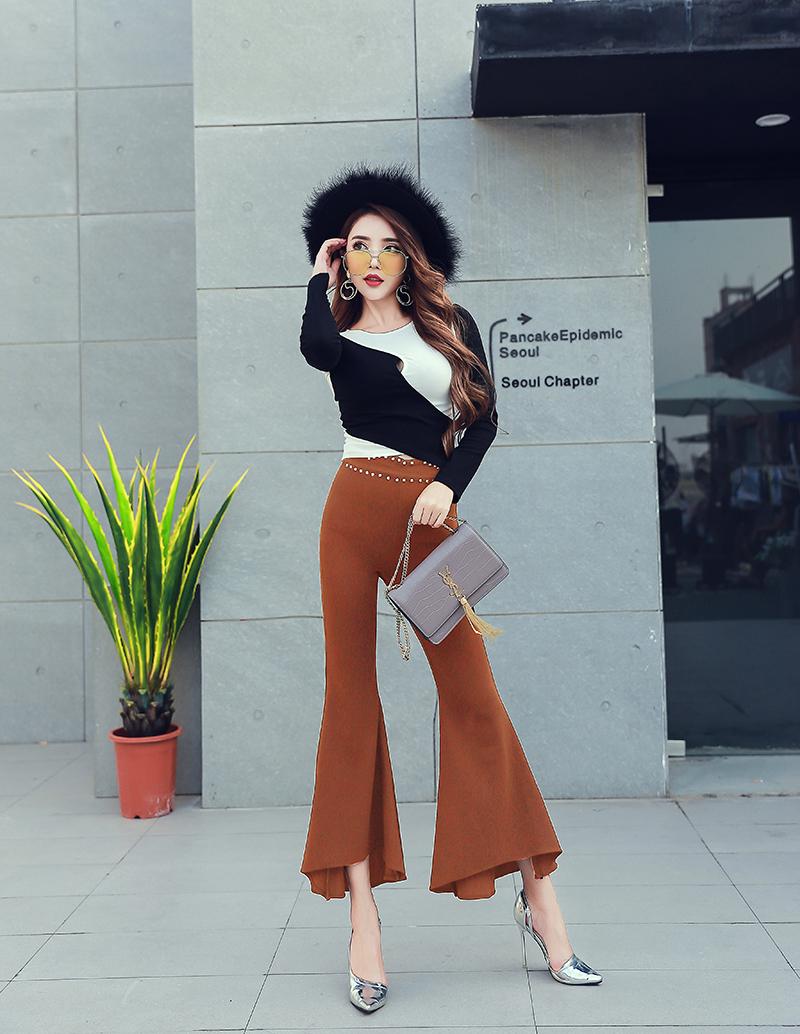 กางเกงขาม้าผู้หญิงสีน้ำตาล