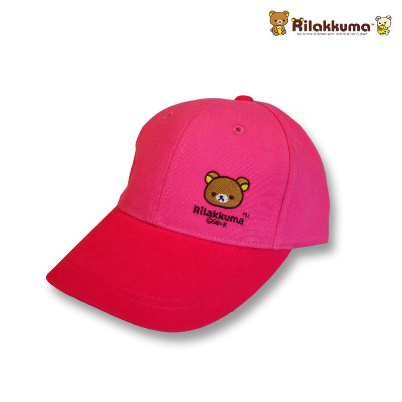 หมวกแก๊ปเด็ก ลายริลัคคุมะ Rilakkuma สีชมพู