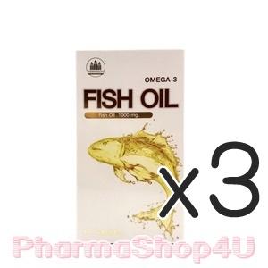 (ซื้อ3 ราคาพิเศษ) Pharmahof Fish Oil Omega-3 1000mg 60เม็ด น้ำมันปลา ลดคอเลสเตอรอล ลดอาการปวดข้อ ลดไขมันในเส้นเลือด