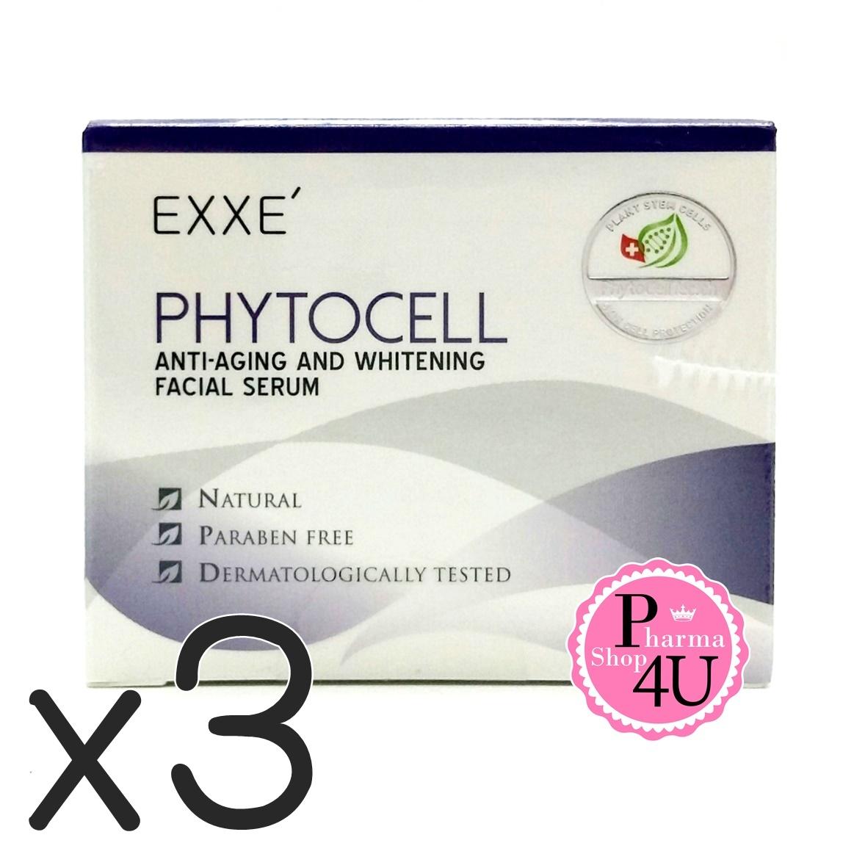 (ซื้อ3 ราคาพิเศษ) Exxe Phytocell anti-aging and whitening facial serum 30G เอ็กซ์เซ่ ไฟโตเซลล์ แอนตี้ เอจจิ้ง ช่วยลดเลือนริ้วรอย และเติมความชุ่มชื้นให้ผิวเปล่งปลั่ง