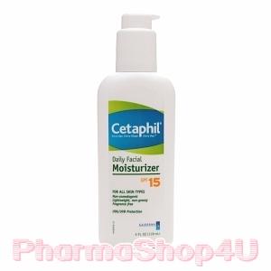 Cetaphil Daily Facial Moisturizer SPF15 PA+++ 118mL บำรุงผิวและกันแดด เนื้อบางเบา ไม่เหนียวเหนอะหนะ ไม่มีน้ำหอม ไม่ทำให้รูขุมขนอุดตัน