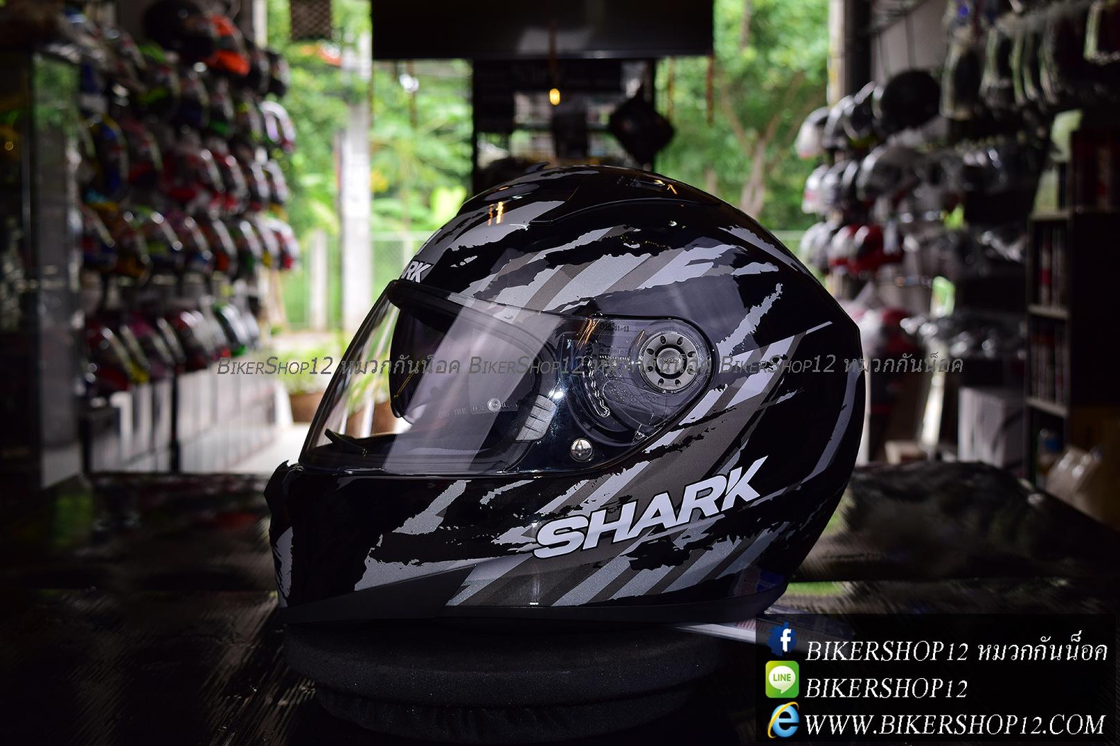 หมวกกันน็อค SHARK RIDILL Oxyd Black Black
