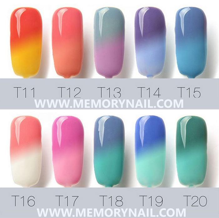 สีทาเล็บเจล เปลี่ยนสีตามอุณหภูมิ,สีเจลตามอุณหภูมิ,สีเจลเปลี่ยนสีตามอุณหภูมิ,สีเจลเปลี่ยนตามอุณหภูมิ,สีเจลเปลี่ยนอุณหภูมิ,Soak Off Temperature Change Color Gel Nail Polish,,temperature change nail gel