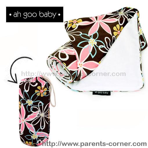 ผ้าห่มพกพา The Stroller Blanket Ah Goo Baby - Retro Daisy
